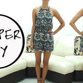 Romper DIY. || Learn how to make a romper || FREE PATTERN