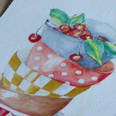 un petit bol d'aquarelle