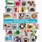 Repeat Crafter Me: 26 Days of Crochet Animal Alphabet Appliques