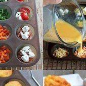 Omelette façon cupcake pour l'apéro