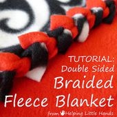 """Pieces by Polly: Double Layered No-Sew """"Braided"""" Fleece Blanket Tutorial"""