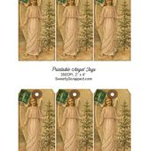 Sweetly Scrapped: Free Printable Christmas Angel Tags, With Evergreen Tree