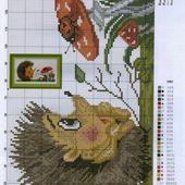 ♥Meus Gráficos De Ponto Cruz♥: Hedgehog / Ouriço Pigmeu Africano em Ponto Cruz