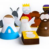Print and build a nativity set | How About Orange