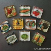 CelticMommy: How to make Glass Tile Magnets