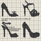 Grille gratuite point de croix : Chaussures - Le blog de Isabelle