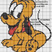 Grille gratuite point de croix : Pluto - Disney - Le blog de Isabelle