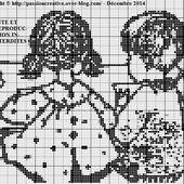 Grille gratuite point de croix : Ecole d'autrefois - Le blog de Isabelle