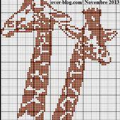 Grille gratuite point de croix : Girafes - Le blog de Isabelle