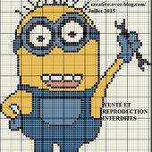 Grille gratuite point de croix : Minion 3