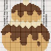 Grille gratuite point de croix : Religieuse au chocolat 1 - Le blog de Isabelle