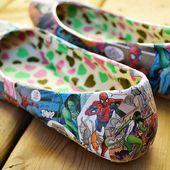 Comic Book Shoes - DIY