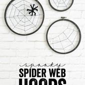Spooky Spider Web Hoops | A Night Owl Blog