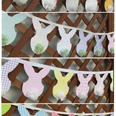PB Inspired Easter Bunny Banners | Bren Did