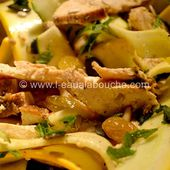 Salade de Courgettes au Poulet Fruits Secs & Graines