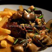 Steak Haché de Boeuf Sauce Cognac aux Pleurotes