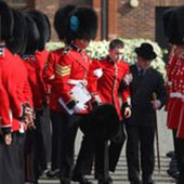 Royal guards who are taught how to faint