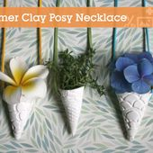 Quick Tip: Make a Polymer Clay Posy Pendant