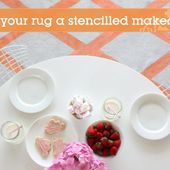 Give Your Rug a Stunning Stencilled Makeover