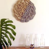 How to Crochet a Stunning Natural Jute Wall Hanging