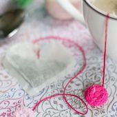 DIY Heart Tea Bags With Clay Charms