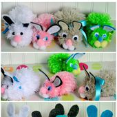 Wonderful DIY Easy Pom Pom Bunny