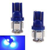 2PCS T10 5SMD-5050 LED 194 168 W5W Car Side Wedge Tail Light Blue Light (Color: Blue)