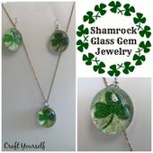 Shamrock Glass Gem Jewelry - Craft