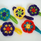 Easy Crochet Flower Headband
