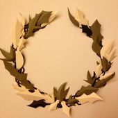 Christmas Paper Wreath, 2014 by Karl Corney
