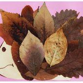 Bricolage pour enfants: collage d'animaux en feuilles sèches