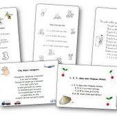 Comptines, chansons et poésies pour apprendre à compter en maternelle