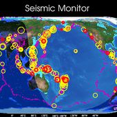 Seismic Monitor. A colorful, interactive map of the latest earthquakes and much more.