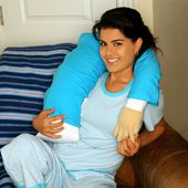 Boyfriend PillowTM- Companion Pillow Micro Beads - Mooshi squeeze and soft silky like t-shirt