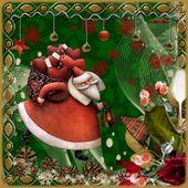 cadeau : un cadre décoré noel ou hiver pour faire le nouveau défi