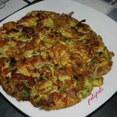 Omelette aux pomme de terre-poireaux