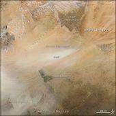 Bodele Depression Dust Feeds Amazon : Image of the Day