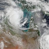 Cyclones Lam and Marcia : Image of the Day