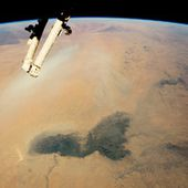 Lake Chad and a Bodele Dust Plume : Image of the Day