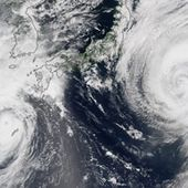 Typhoons Goni and Atsani : Image of the Day