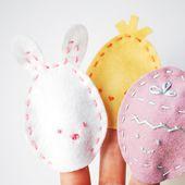 Wild Olive: make easter egg finger puppets...