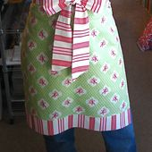 Your Christmas gift from me...an apron in an hour!