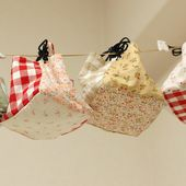 How to make a patchwork cube drawstring bag