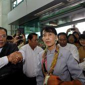 En tournée européenne, Aung San Suu Kyi arrive à Genève