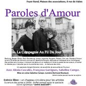 En Concert le samedi 17 Octobre: Paroles d&rsquo&#x3B;Amour