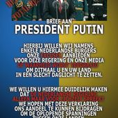 An open letter from the Netherlands to Putin... We are sorry!