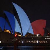 Video: The World Mourns in Blue, White and Red