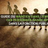 Guide du maintien dans l'emploi dans la Fonction publique