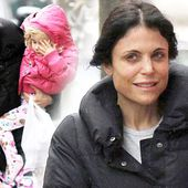 Slummy mummy! Bethenny Frankel wears Hello Kitty PJs to walk the dog with daughter Bryn