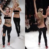 'That b**** ruined my walk!': Chaos on the catwalk as British model PU